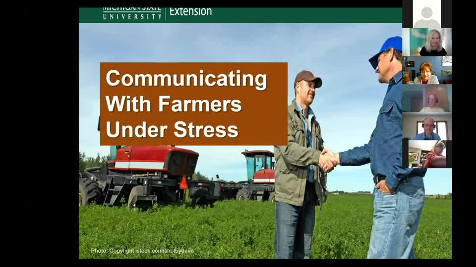Communicating with Farmers Under Stress