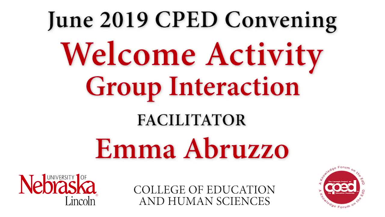 CPED Convening Welcome Activity