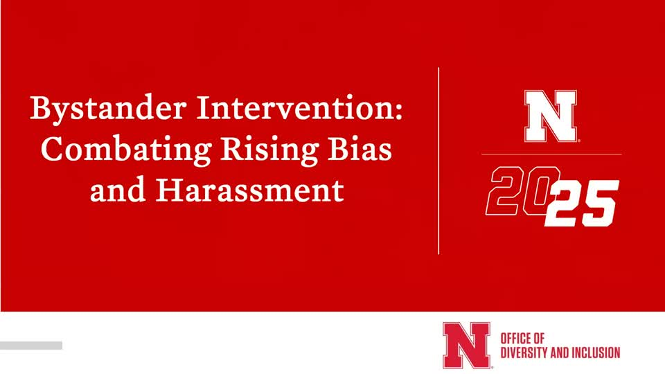 Webinar: Bystander Intervention Combating Rising Bias and Harassment