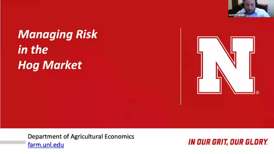 Webinar: Managing Risk in the Hog Market