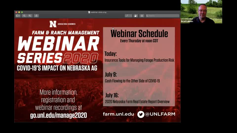 Webinar: Insurance Tools for Managing Forage Production Risk (July 2, 2020)
