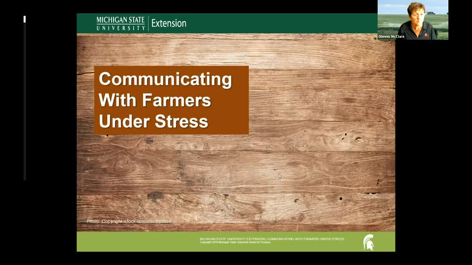 Communicating with Farmers Under Stress 7/15/20