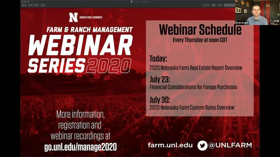 Webinar: 2020 Nebraska Farm Real Estate Report Overview