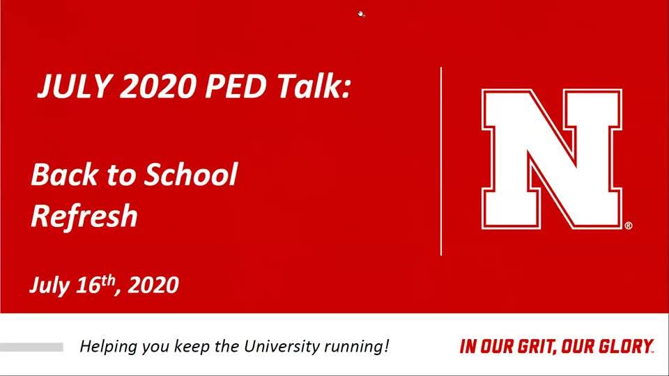 PED Talks July 2020