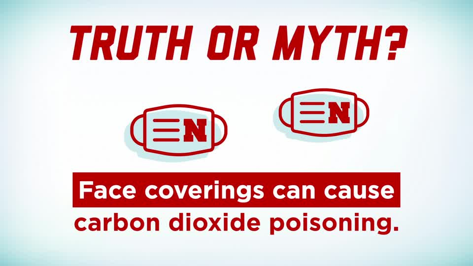 Husker Health Tips: Face Coverings and Carbon Dioxide