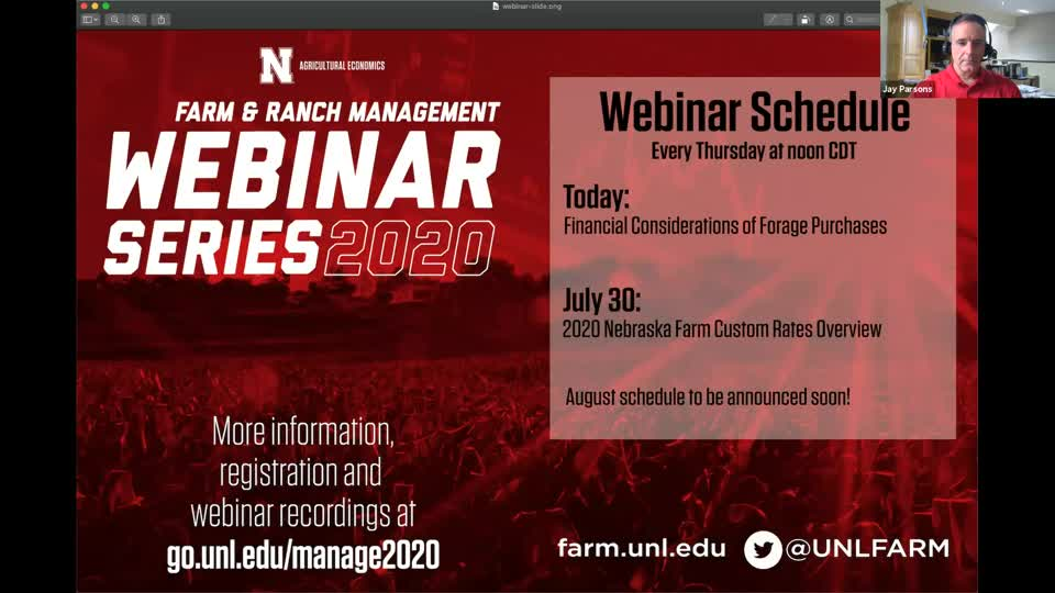 Webinar: Financial Considerations of Forage Purchases (July 23, 2020)