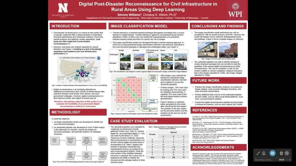Digital Post-Disaster Reconnaissance for Civil Infrastructure in Rural Areas Using Deep Learning