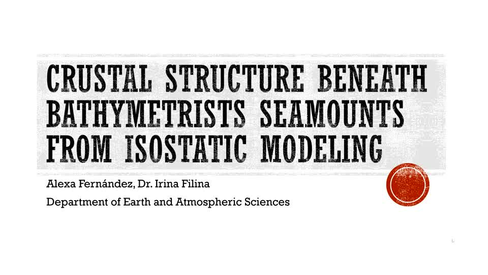 Crustal Structure Beneath Bathymetrists Seamounts From Isostatic Modeling