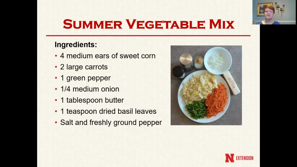Cooking with Carol - Summer Vegetable Mix