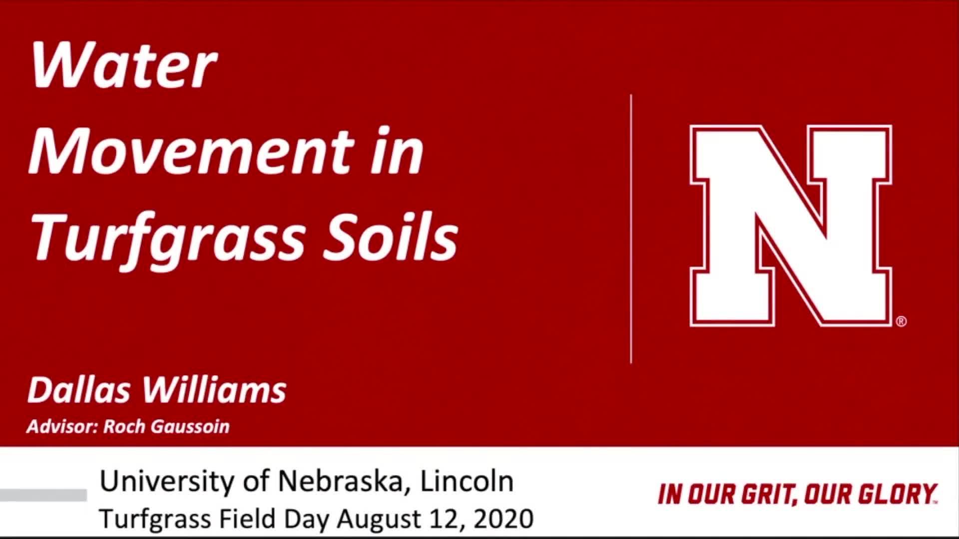 Water Movement in Turfgrass Soils