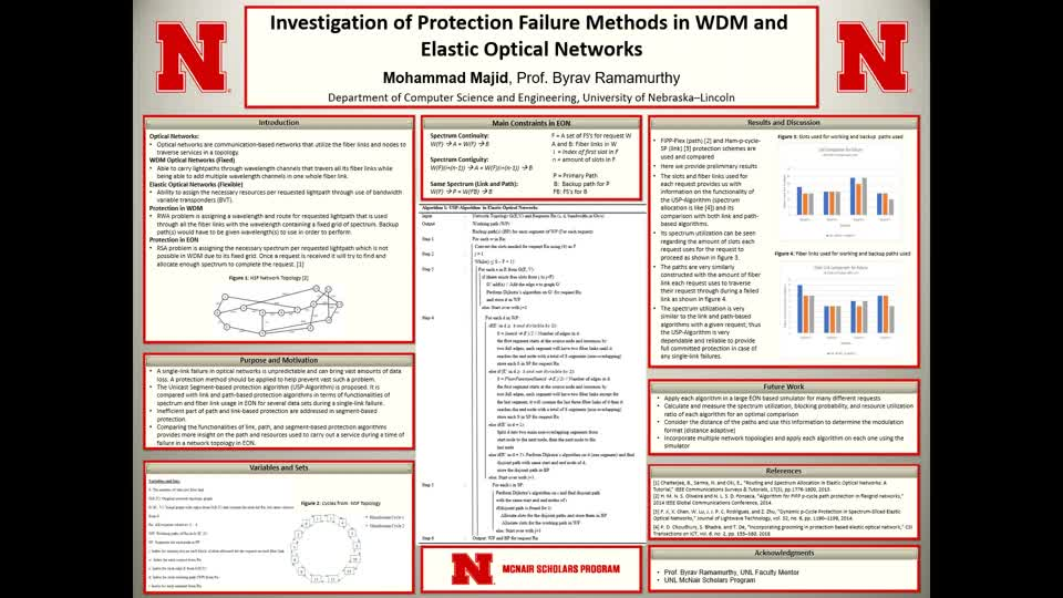 Investigation of Protection Failure Methods in WDM and Elastic Optical Networks
