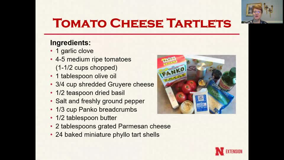 Cooking with Carol - Tomato Cheese Tartlets