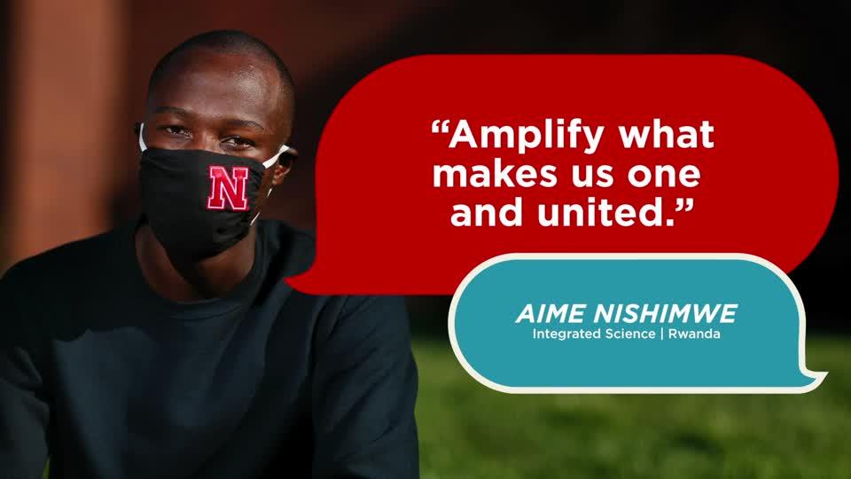 Husker Dialogues 2020: Aime Nishimwe