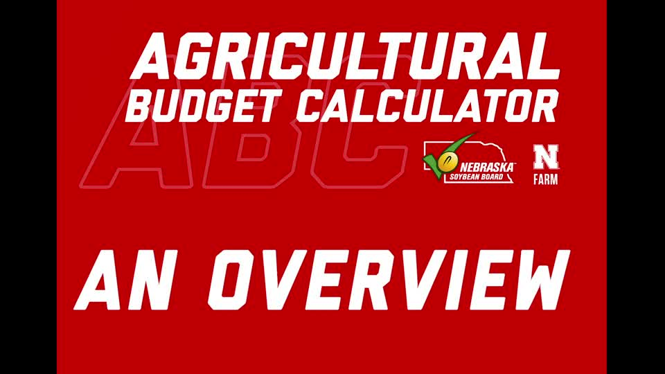 Agricultural Budget Calculator - Overview