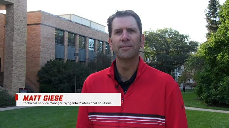 Turfgrass & Landscape Management alumnus Matt Giese