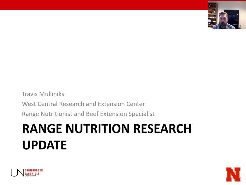 GSL Range Nutrition Research Update