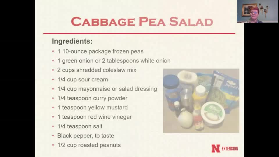 Cooking with Carol - Cabbage Pea Salad
