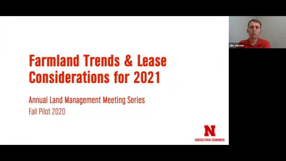 Webinar: Farmland Trends and Lease Considerations for 2021 (Sept. 10, 2020)