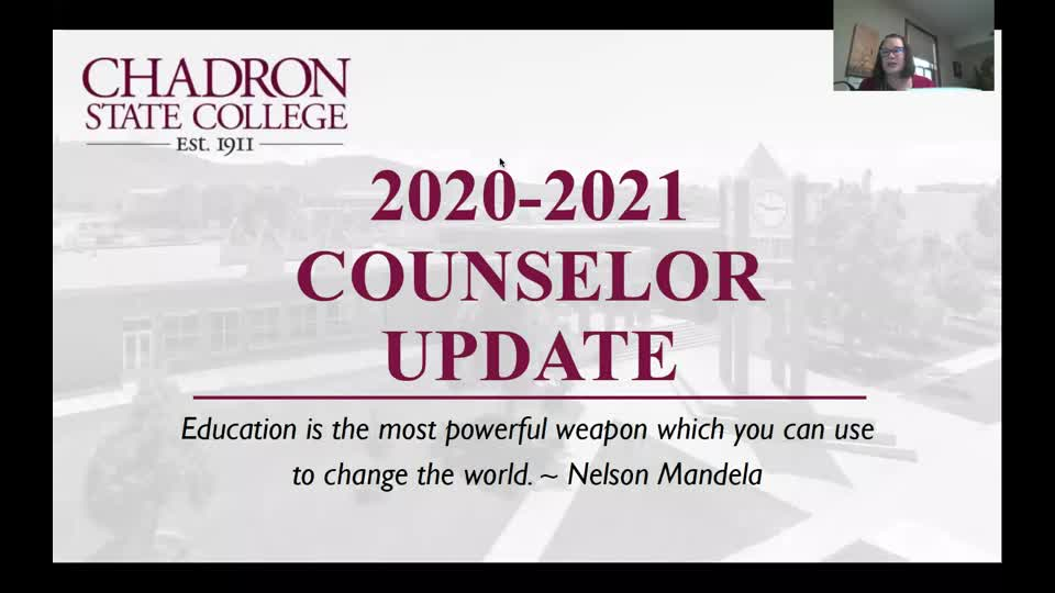Counselor Update - September 15 (State Colleges/EducationQuest)