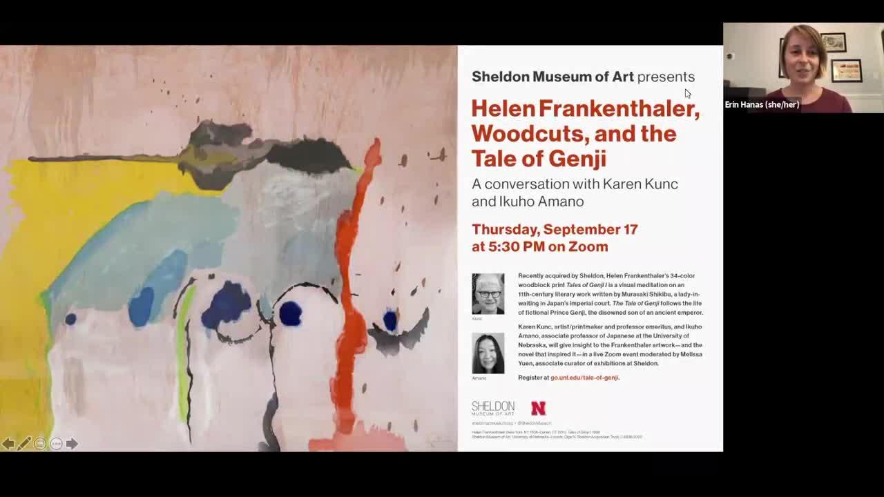 Helen Frankenthaler, Woodcuts, and the Tale of Genji