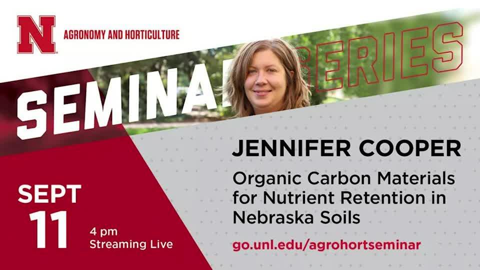 Organic Carbon Materials for Nutrient Retention in Nebraska Soils