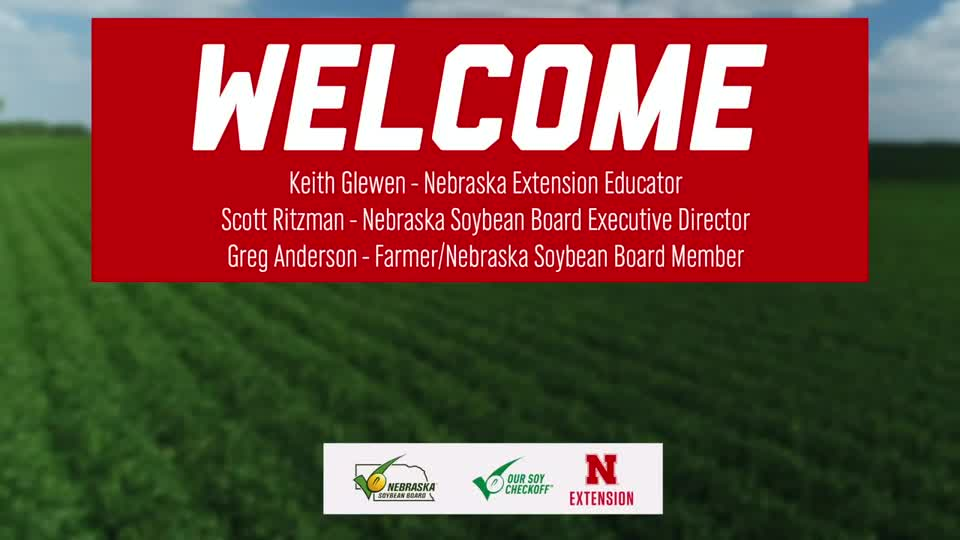1 - Welcome to the 2020 Soybean Management Field Days