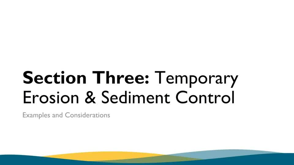 NDOT Erosion Sediment Control Inspector Re-Certification Section 3 Part 1
