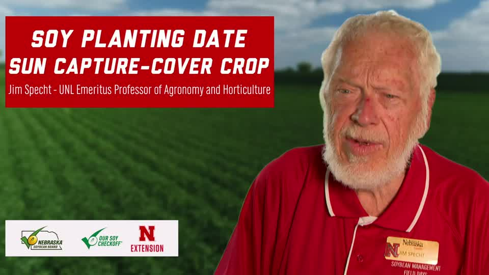 15 - 2020 Soybean Management Field Days - Soy Planting Date – Sun Capture - Cover Crop