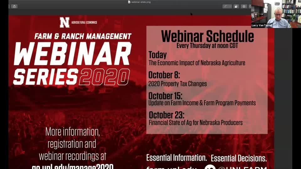 Webinar: The Economic Impact of Nebraska Agriculture