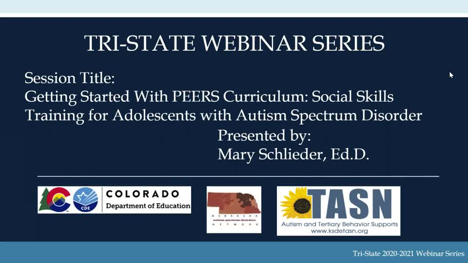 Getting Started with PEERS for Adolescents: Social Skills Training for Adolescents with Autism Spectrum Disorder