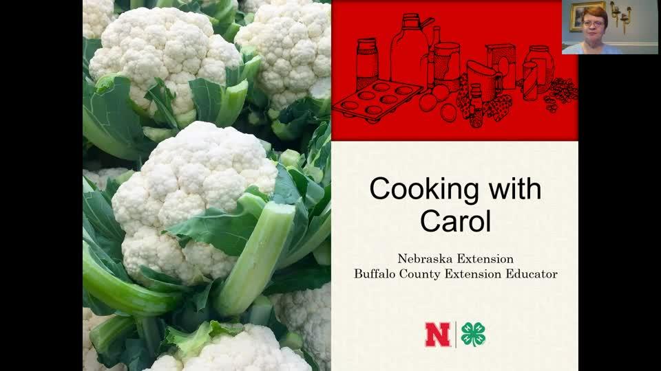 Cooking with Carol - Roasted Cauliflower Steak