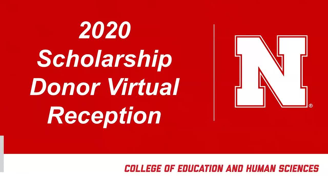 2020 Scholarship Donor Virtual Reception