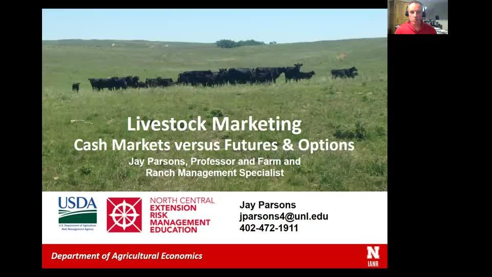 Livestock Marketing - Cash markets versus futures and options