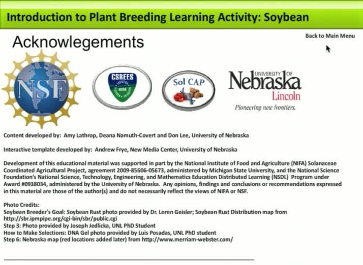 Plant Breeding Activity