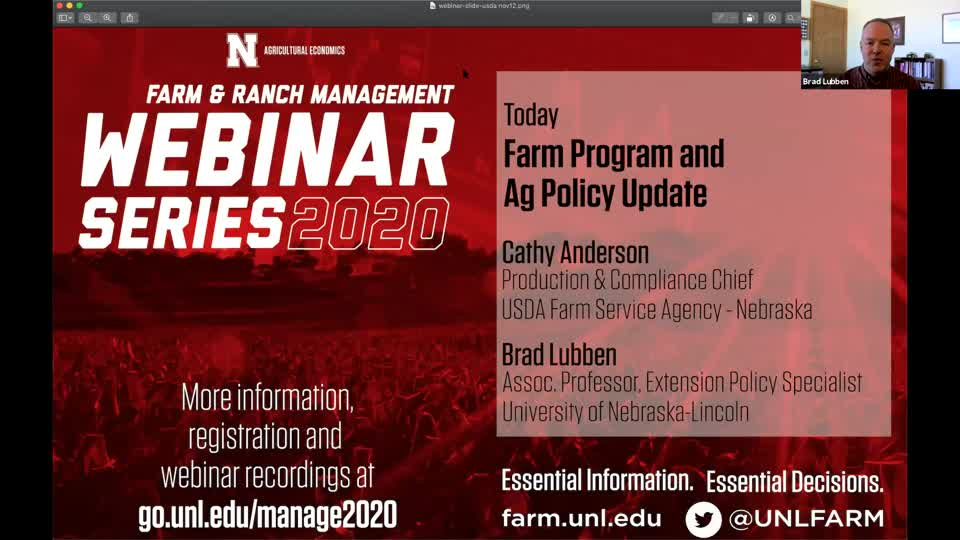 Farm Program and Ag Policy Update (Dec. 17, 2020 Webinar)