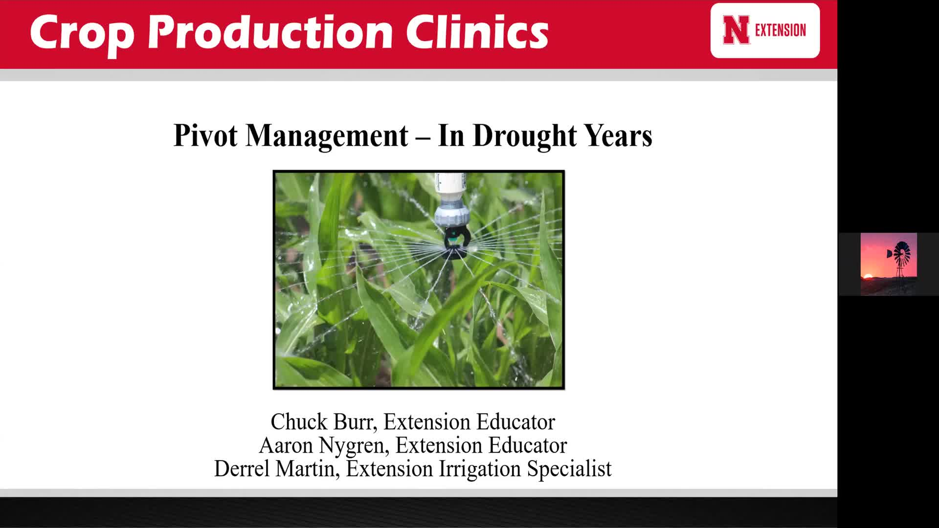 Pivot Management - In Drought Years