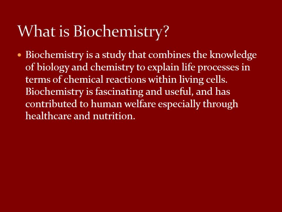 CASNR Biochemistry