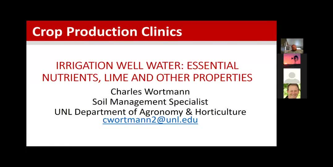 Irrigation Well Water: Essential Nutrients, Lime and Other Properties