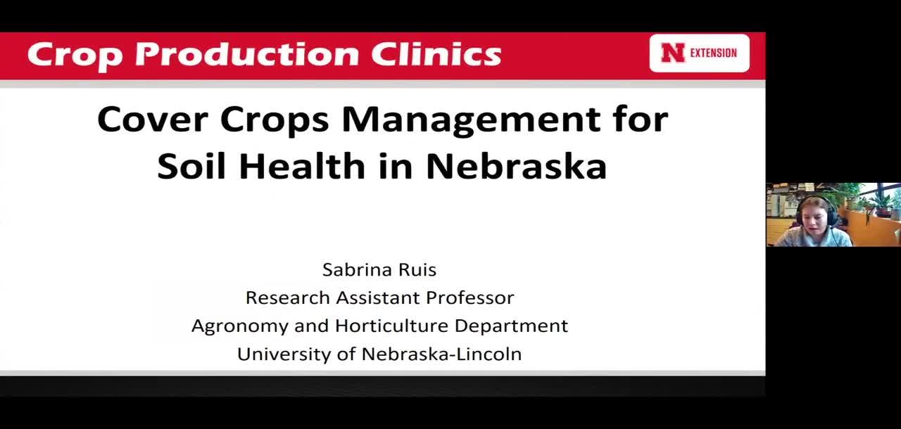 Cover Crop management for soil health in Nebraska