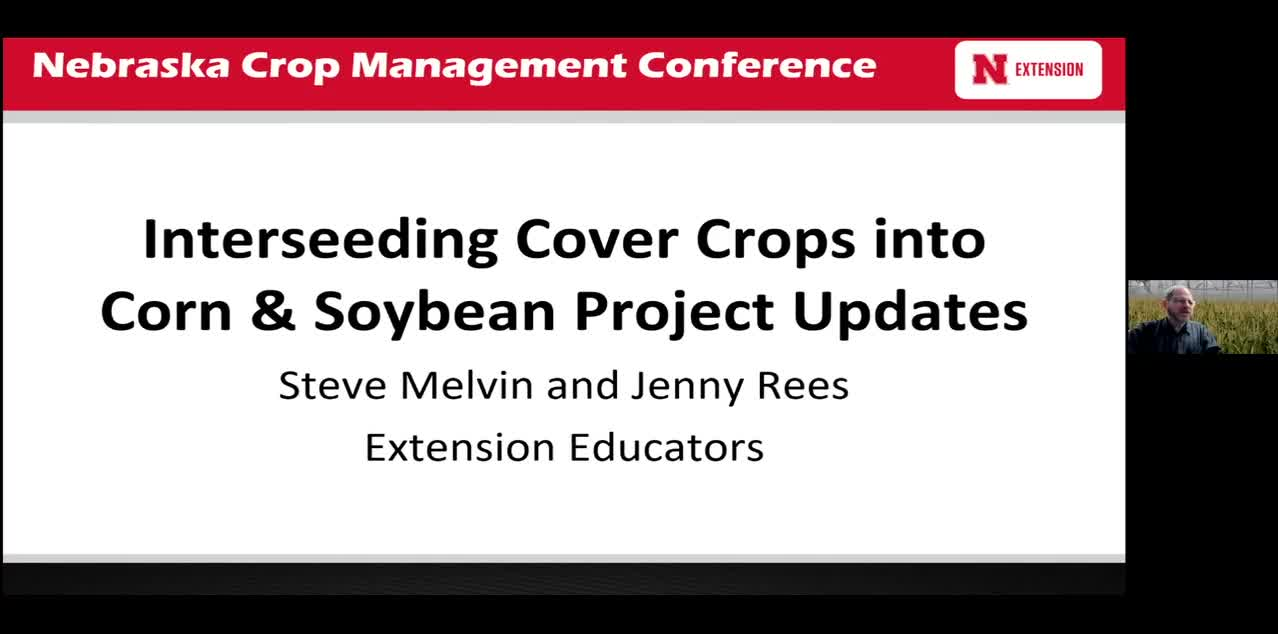 Interseeding Cover Crops into Corn & Soybean Project Updates