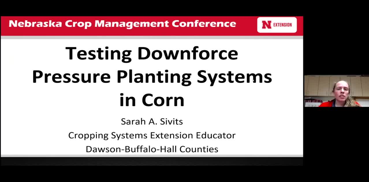Testing Downforce Pressure Planting Systems in Corn