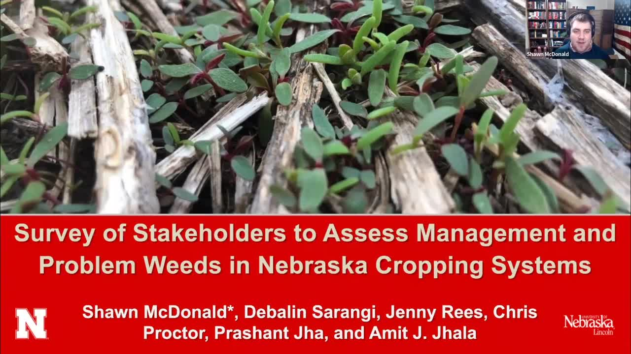 Survey of stakeholders to access the problem weeds and weed management practices in Nebraska
