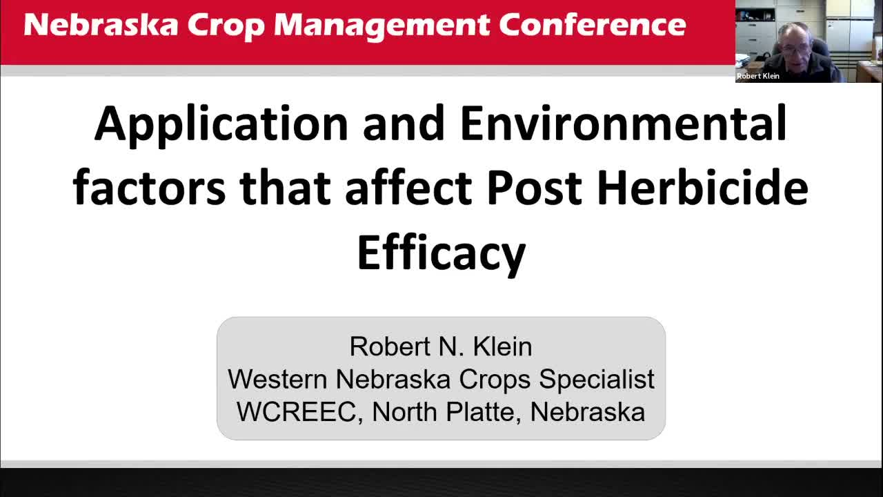Application and Environmental Factors that affect Post Herbicide Efficacy