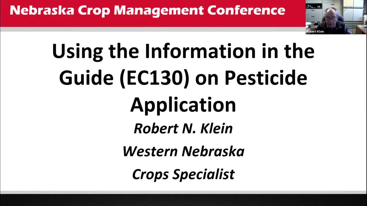 Using the Information in the Guide on Pesticide Application