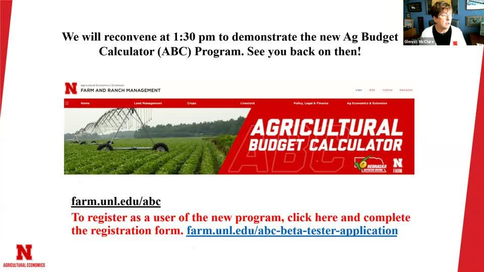 Ag Budgeting Workshop for Eastern Nebraska - Feb. 25, 2021