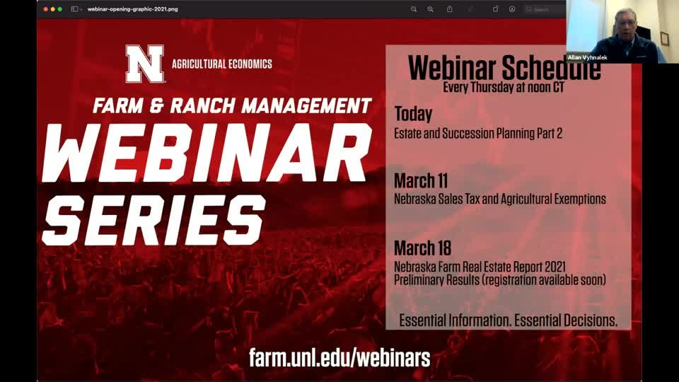 Succession and Estate Planning for Farm and Ranch - Part 2