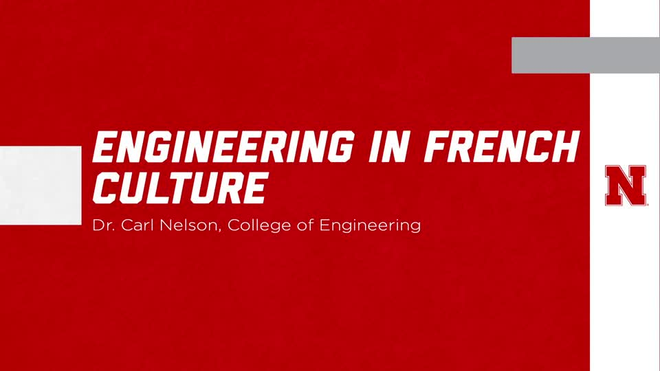 Engineering in French Culture - ENGR 490