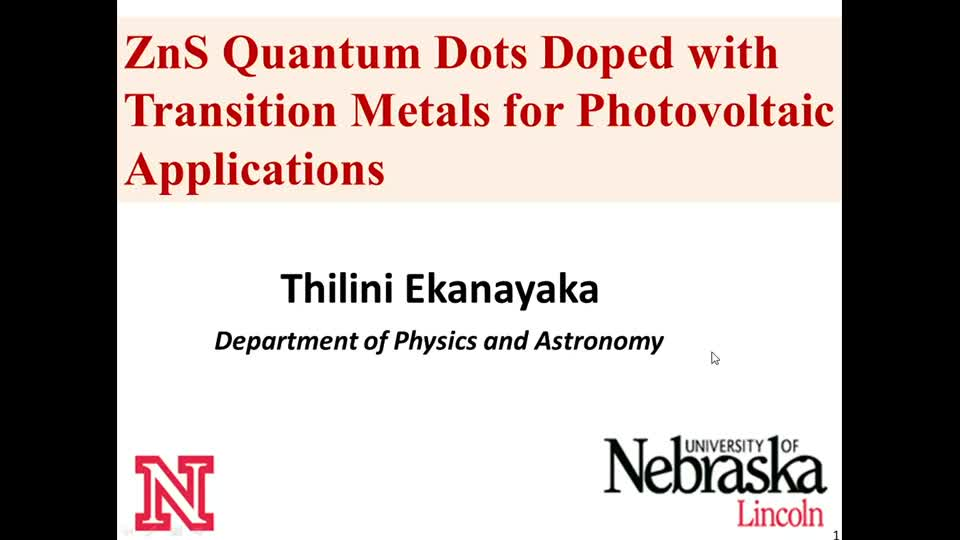 ZnS Quantum Dots Doped with Transition Metals for Photovoltaic Applications