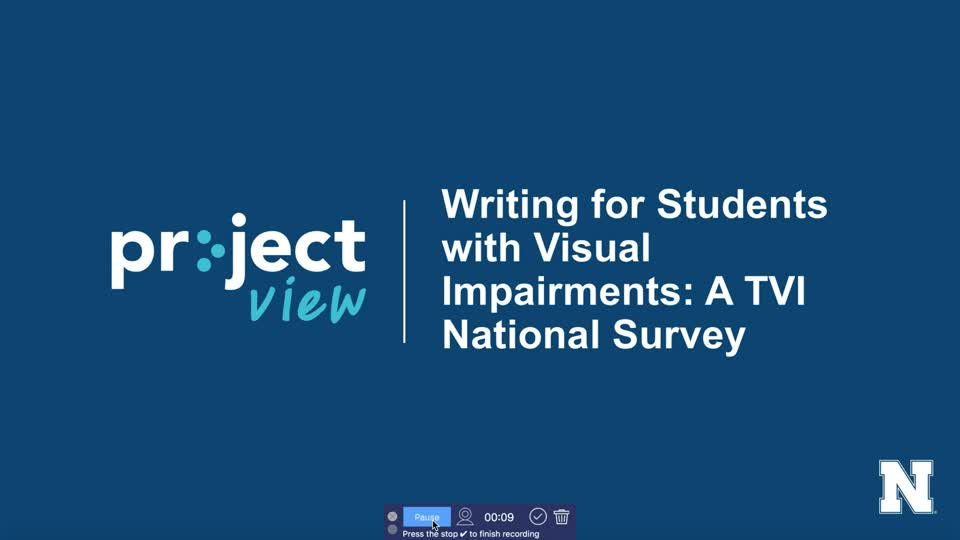 Writing for Students with Visual Impairments: A TVI National Survey