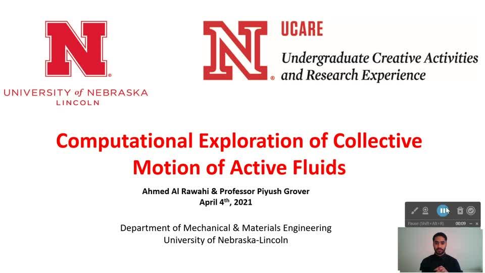 Computational Exploration of Collective Motion of Active Fluids Presentation